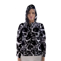 Skulls Pattern Hooded Wind Breaker (women)