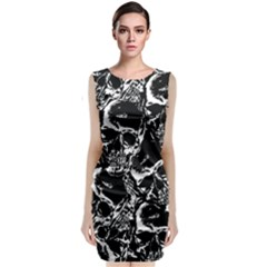 Skulls Pattern Classic Sleeveless Midi Dress