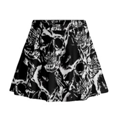 Skulls Pattern Mini Flare Skirt