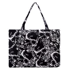 Skulls Pattern Medium Zipper Tote Bag