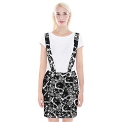 Skulls Pattern Braces Suspender Skirt