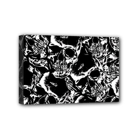 Skulls Pattern Mini Canvas 6  X 4