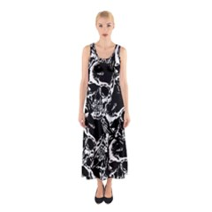 Skulls Pattern Sleeveless Maxi Dress