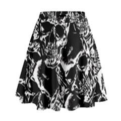 Skulls Pattern High Waist Skirt