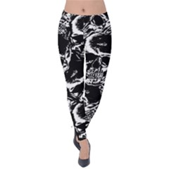 Skulls Pattern Velvet Leggings