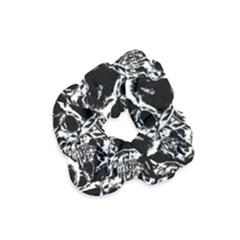 Skulls Pattern Velvet Scrunchie