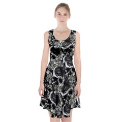 Skulls Pattern Racerback Midi Dress