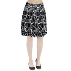Skulls Pattern Pleated Skirt