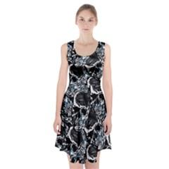 Skulls Pattern Racerback Midi Dress