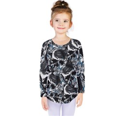 Skulls Pattern Kids  Long Sleeve Tee