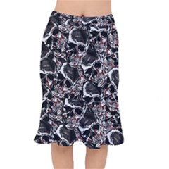 Skulls Pattern Mermaid Skirt