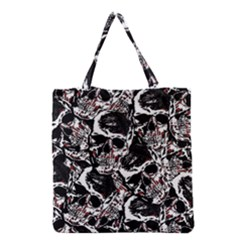 Skull Pattern Grocery Tote Bag