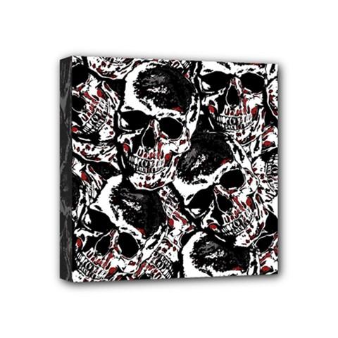 Skull Pattern Mini Canvas 4  X 4