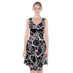 Skull Pattern Racerback Midi Dress