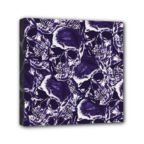 Skull Pattern Mini Canvas 6  X 6