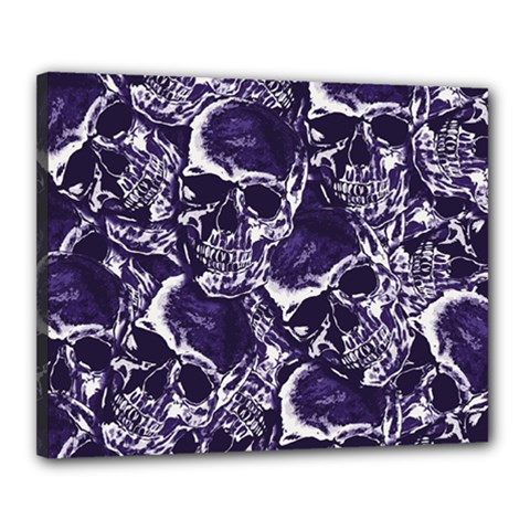 Skull Pattern Canvas 20  X 16