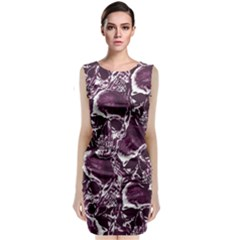 Skull Pattern Classic Sleeveless Midi Dress