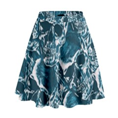 Skull Pattern High Waist Skirt