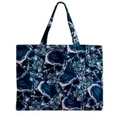 Skull Pattern Medium Zipper Tote Bag