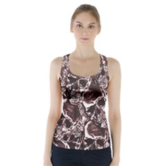 Skull Pattern Racer Back Sports Top