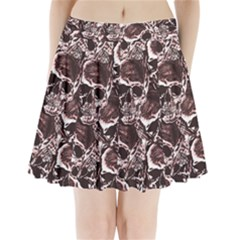 Skull Pattern Pleated Mini Skirt
