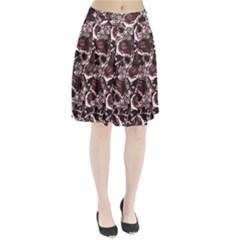Skull Pattern Pleated Skirt