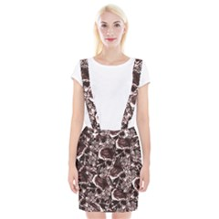 Skull Pattern Braces Suspender Skirt