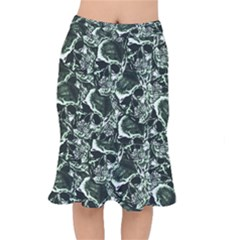 Skull Pattern Mermaid Skirt