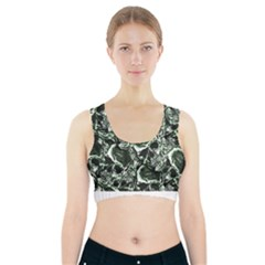 Skull Pattern Sports Bra With Pocket