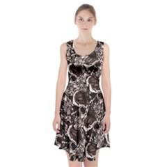 Skull Pattern Racerback Midi Dress