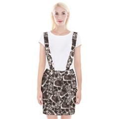 Skull Pattern Braces Suspender Skirt