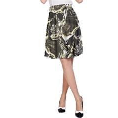 Skull Pattern A Line Skirt