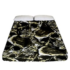 Skull Pattern Fitted Sheet (queen Size)