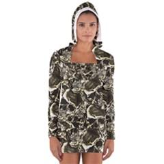 Skull pattern Women s Long Sleeve Hooded T-shirt