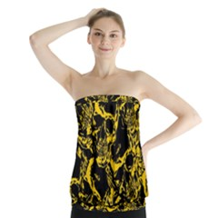 Skull Pattern Strapless Top