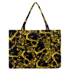 Skull Pattern Medium Zipper Tote Bag