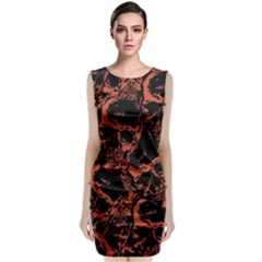 Skull Pattern Classic Sleeveless Midi Dress