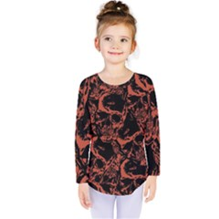 Skull Pattern Kids  Long Sleeve Tee