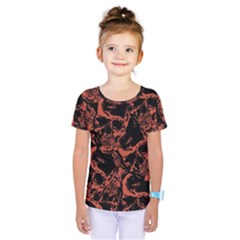 Skull Pattern Kids  One Piece Tee