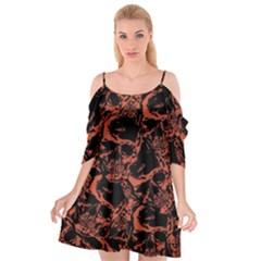 Skull Pattern Cutout Spaghetti Strap Chiffon Dress