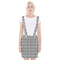 Floral Pattern Braces Suspender Skirt