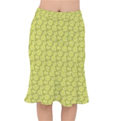 Floral Pattern Mermaid Skirt
