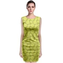Floral Pattern Sleeveless Velvet Midi Dress