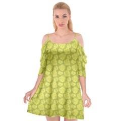Floral Pattern Cutout Spaghetti Strap Chiffon Dress