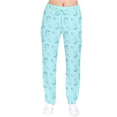 Floral Pattern Drawstring Pants