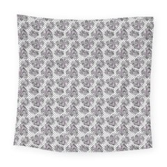 Floral Pattern Square Tapestry (large)