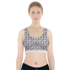 Floral Pattern Sports Bra With Pocket