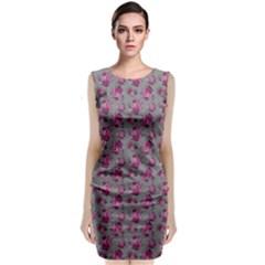 Floral Pattern Classic Sleeveless Midi Dress