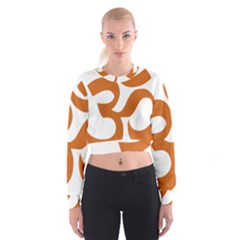 Hindu Om Symbol (Chocolate Brown) Cropped Sweatshirt