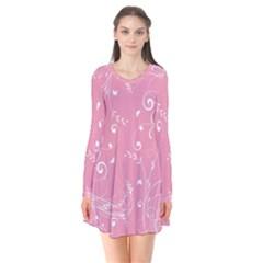 Floral Design Flare Dress